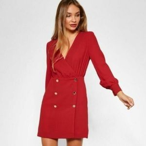 TopShop red double breasted dress